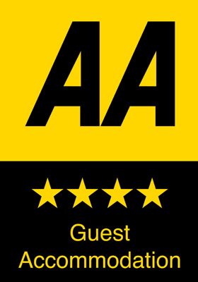 AA 4-star rating for The Abbey Hotel, Bury St Edmunds, Suffolk