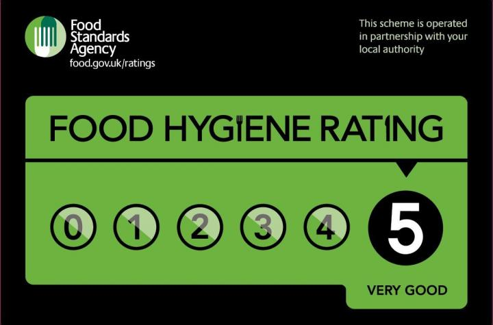 Food Hygiene rating for The Abbey Hotel, Bury St Edmunds, Suffolk