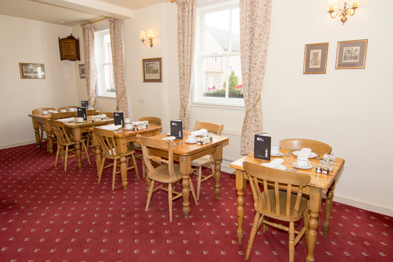 The dining room at the Abbey Hotel, Bury St Edmunds, Suffolk